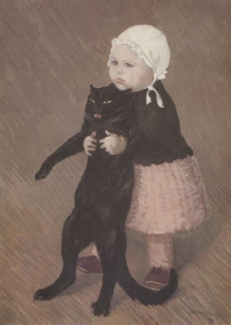 Little Girl With Cat (1889)