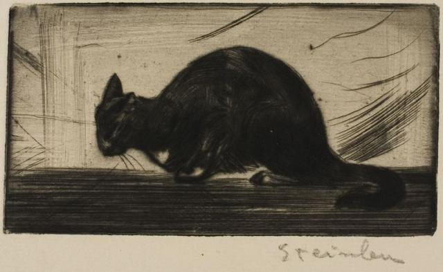 Chat Faisant Le Gros Dos (1898)(C 7) (Collection of the Art Institute of Chicago)