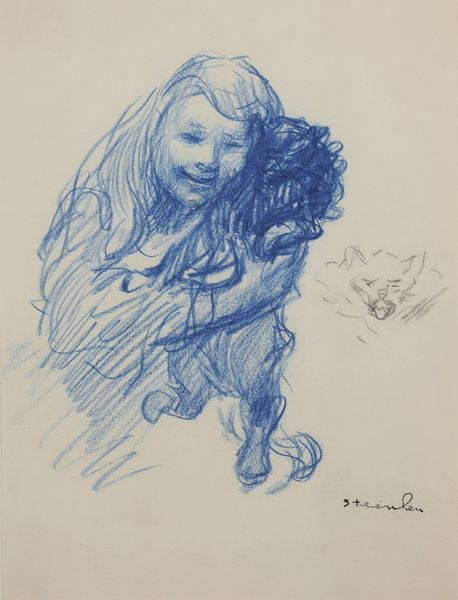 Steinlen's daughter Colette with cat (Oger and Camper auction, Nov. 23, 2011)