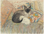 Siamese Cat and Her Kitten (1920) (Sotheby's auction, Jun. 21, 2012)