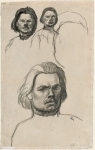 Studies of Portrait of Maxime Gorki (Collection of the Museum of Fine Arts, Boston)