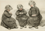 Three Seated Girls (Galerie Kornfeld auction, June 14, 2013)