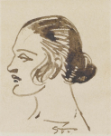 Woman's Profile (Dobiaschofsky auction, Nov. 7, 2013)