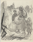 Preliminary drawing for Le Retour -- C'est Ici Chez Nous (Collection of the National Gallery of Art)