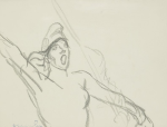 Preliminary drawing for La Republique Nous Appelle (Ader auction, Nov. 29, 2013)