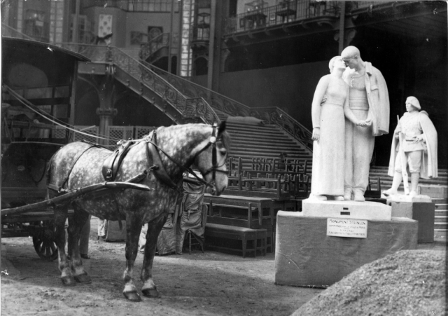 Plaster model for Steinlen monument (Grand Palais exhibition, 1936)