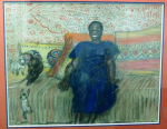 Masseida with cats (Private collection, U.S.)